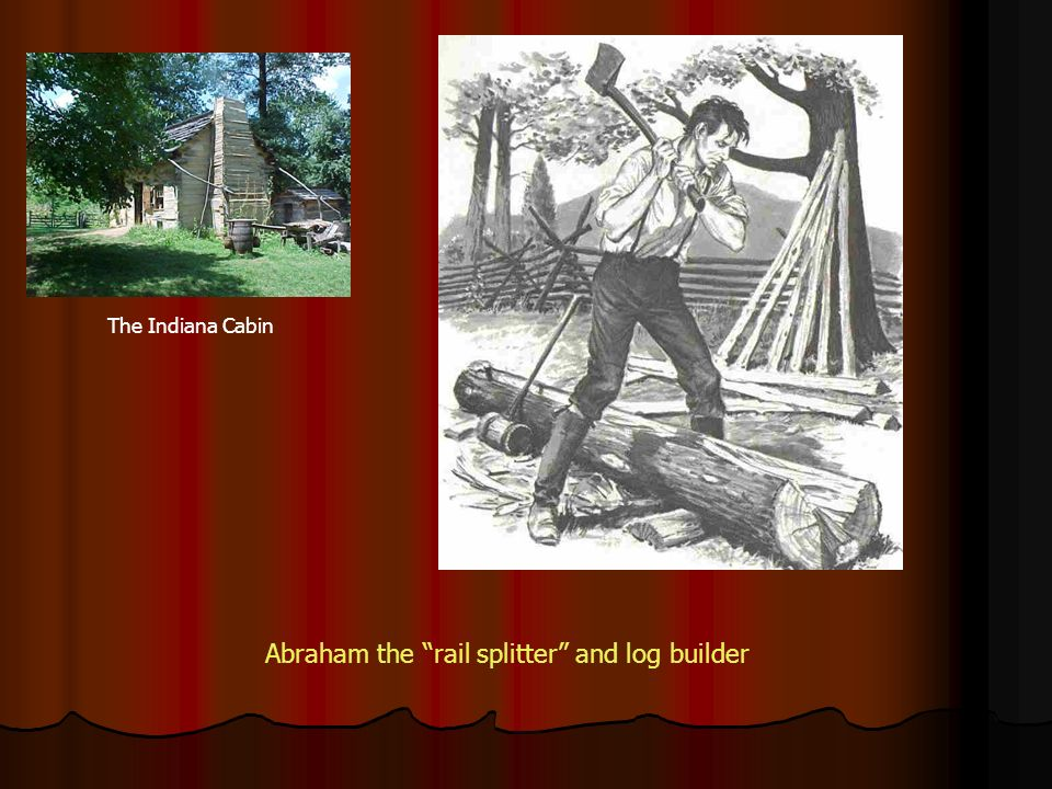 Abraham the rail splitter and log builder The Indiana Cabin
