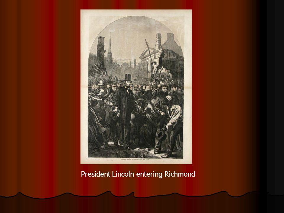 President Lincoln entering Richmond