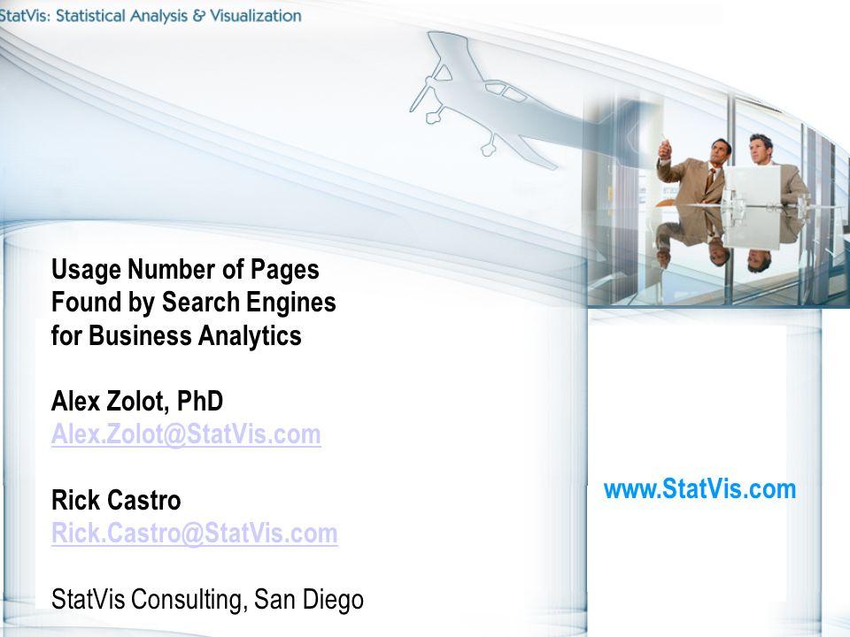 www.zolot.uswww.zolot.us www.StatVis.com 12www.StatVis.com 12 Usage of Googmeter for Business Analytics.Marketing Comparison of HW brands by university associations