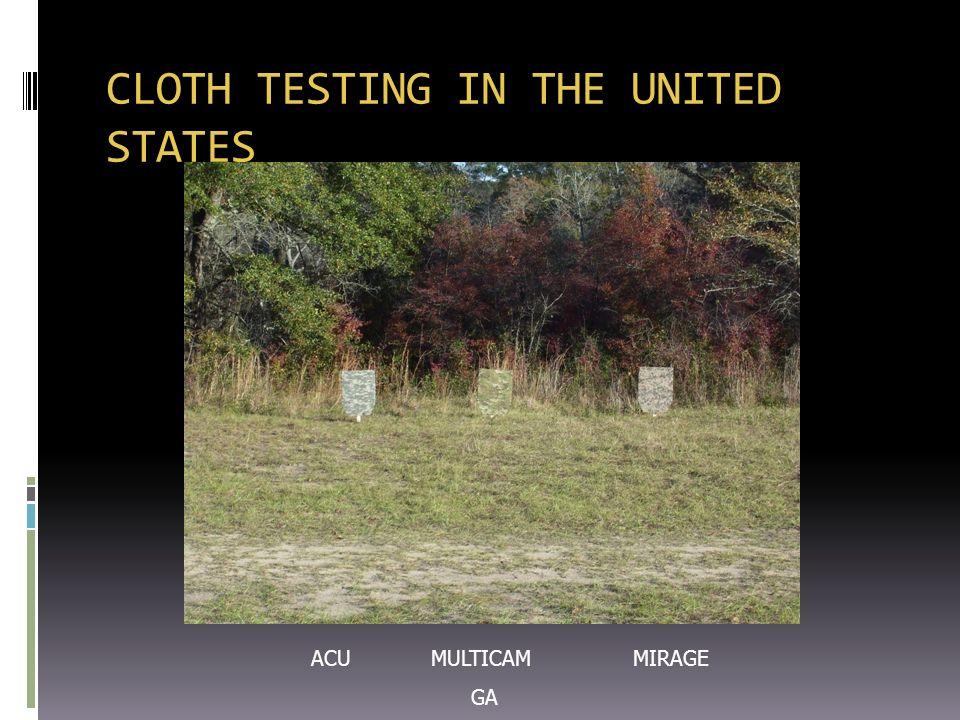 CLOTH TESTING IN THE UNITED STATES ACU MULTICAM MIRAGE GA
