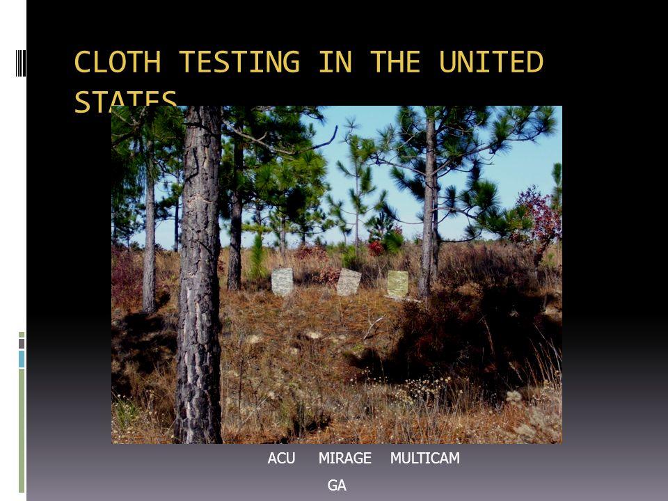 CLOTH TESTING IN THE UNITED STATES ACU MIRAGE MULTICAM GA