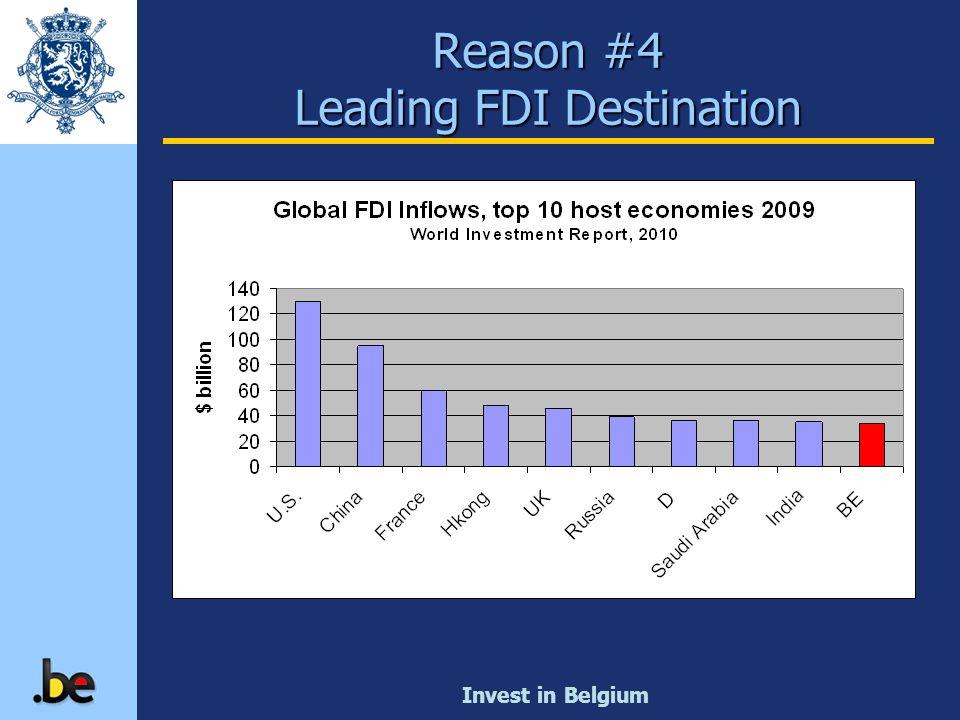 Invest in Belgium Reason #4 Leading FDI Destination