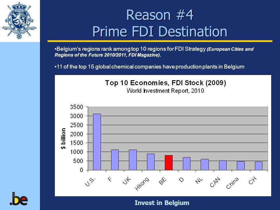 Invest in Belgium Reason #4 Prime FDI Destination Belgiums regions rank among top 10 regions for FDI Strategy (European Cities and Regions of the Futu