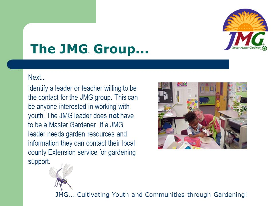 JMG...Cultivating Youth and Communities through Gardening.