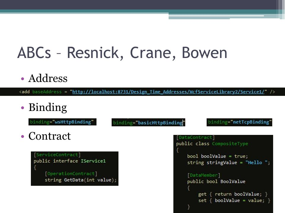 ABCs – Resnick, Crane, Bowen Address Binding Contract
