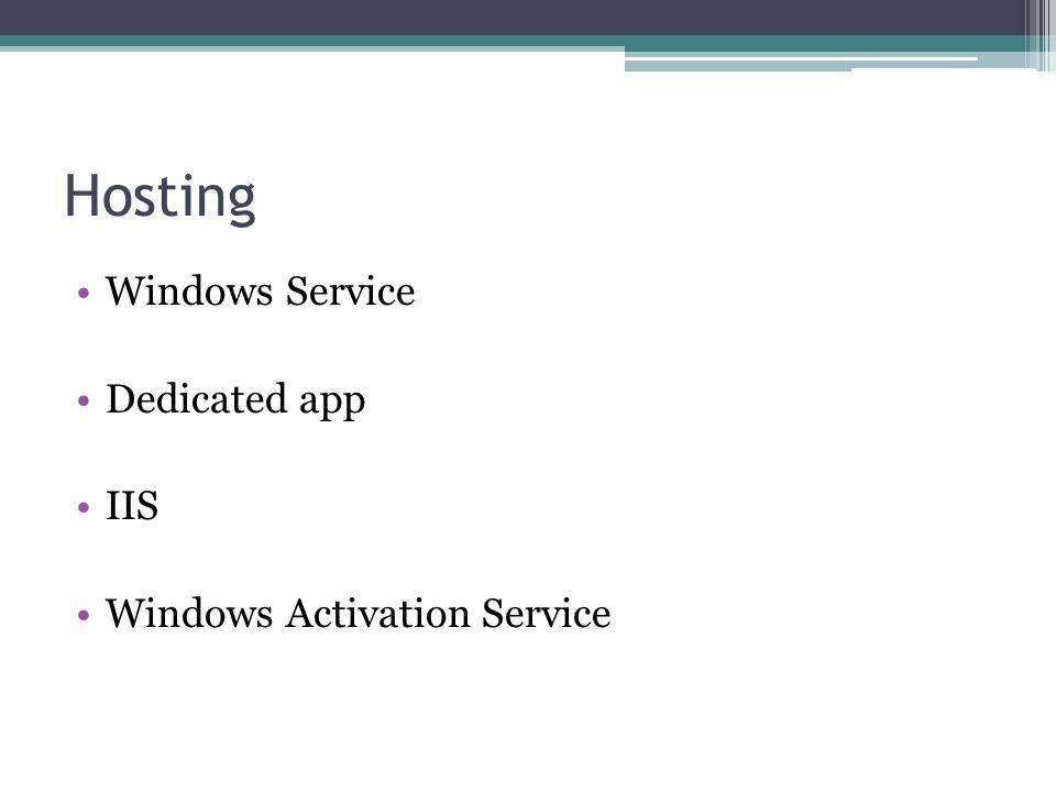 Hosting Windows Service Dedicated app IIS Windows Activation Service