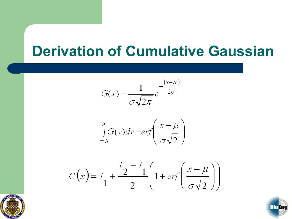 Derivation of Cumulative Gaussian