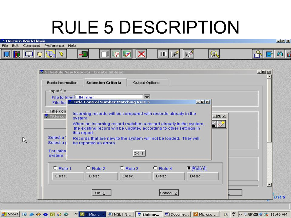 RULE 5 DESCRIPTION