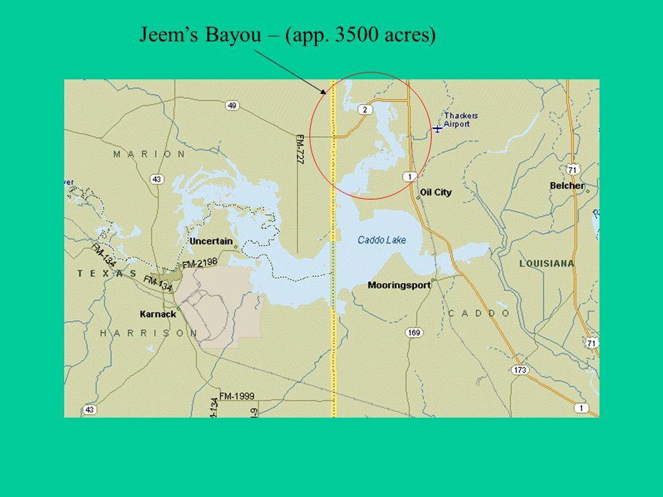Jeems Bayou – (app. 3500 acres)