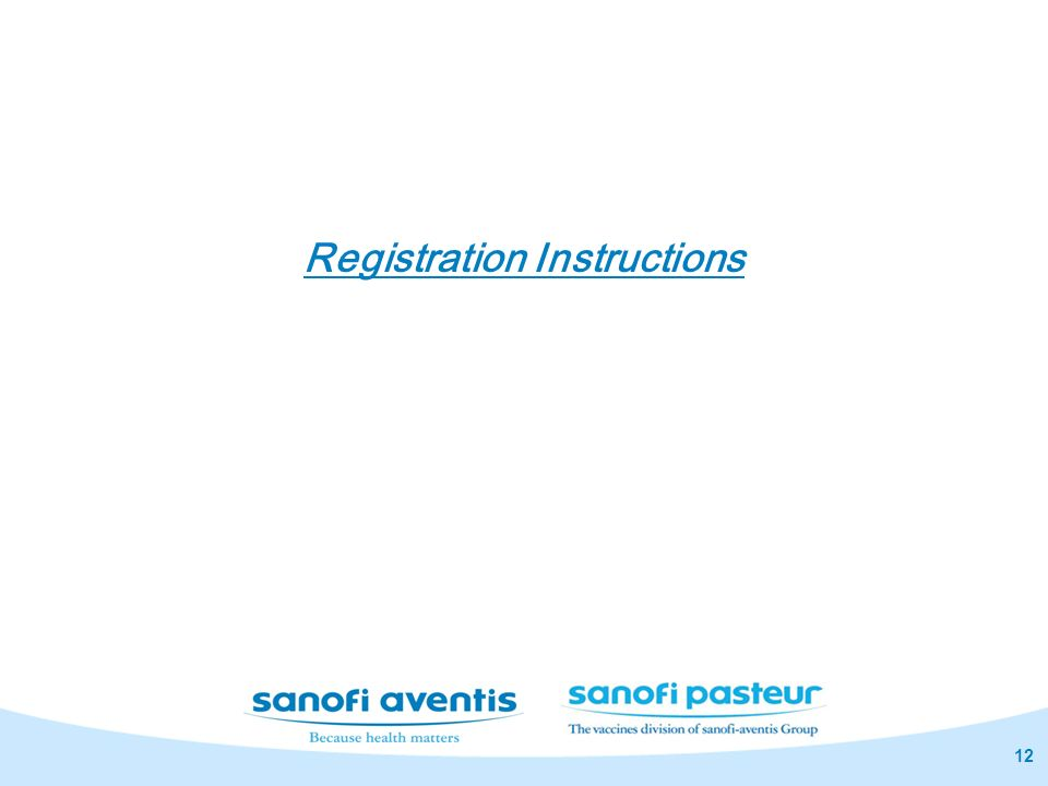12 Registration Instructions