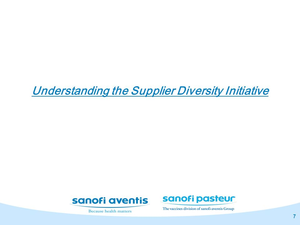 7 Understanding the Supplier Diversity Initiative