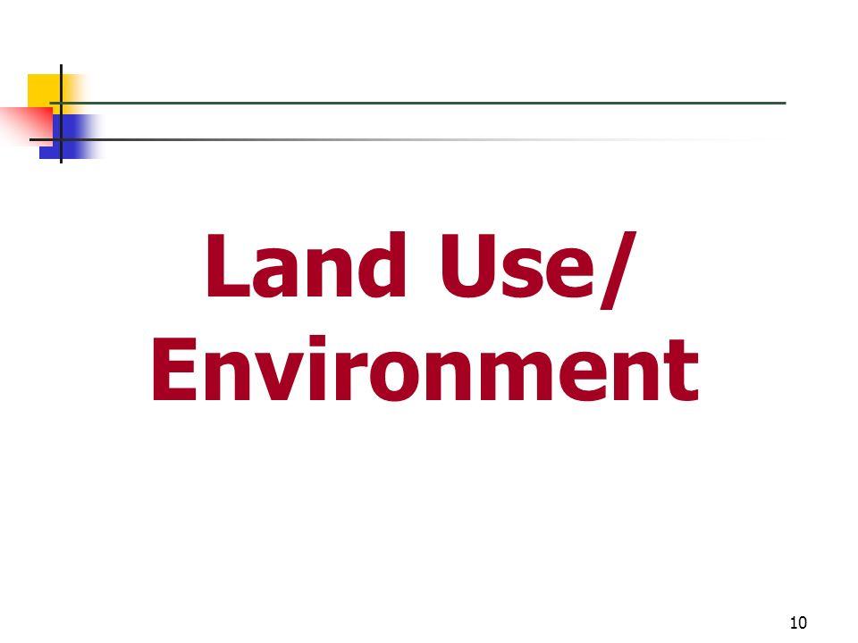 10 Land Use/ Environment