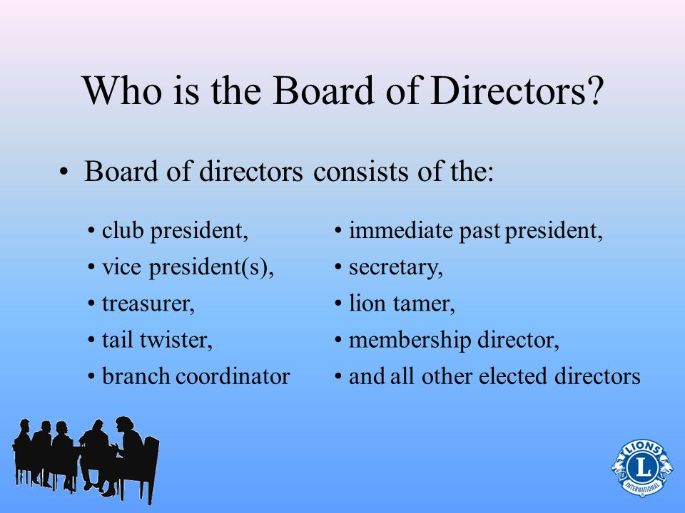 Treasurer Role (Pertaining to Keeping Funds in Order) Work with the club board of directors to: – Review current banking institution(s) Funds for administration and activities must be kept separate through book-keeping or two accounts 1.