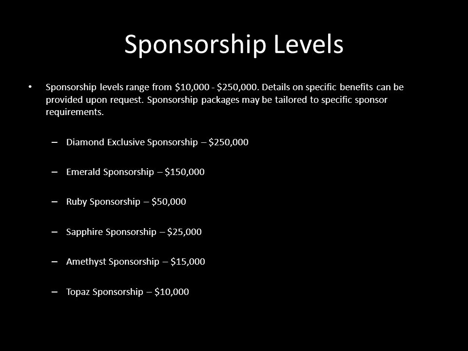 INDO- AMERICAN ARTS COUNCIL WWW.IAAC.US Sponsorship Levels Sponsorship levels range from $10,000 - $250,000. Details on specific benefits can be provi