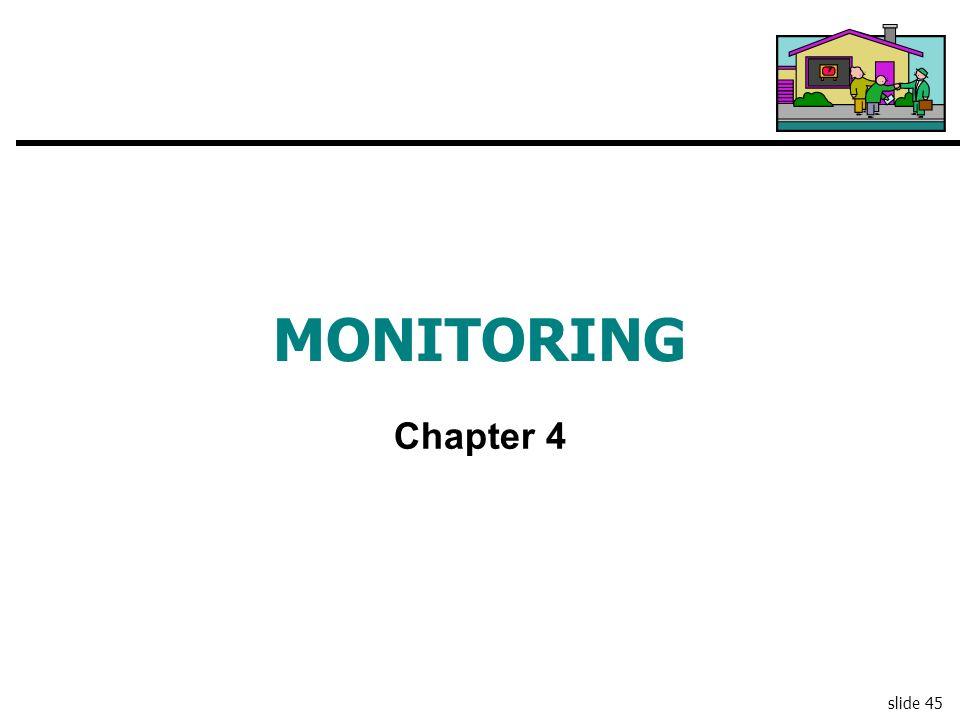 slide 45 MONITORING Chapter 4
