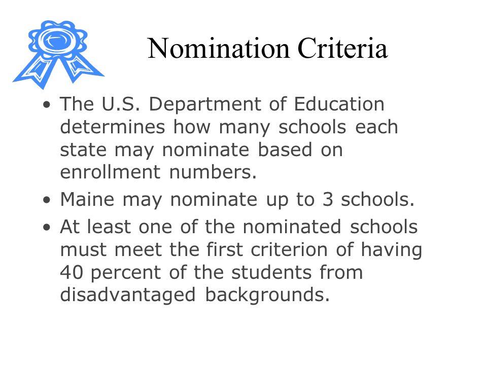 Nomination Criteria The U.S.