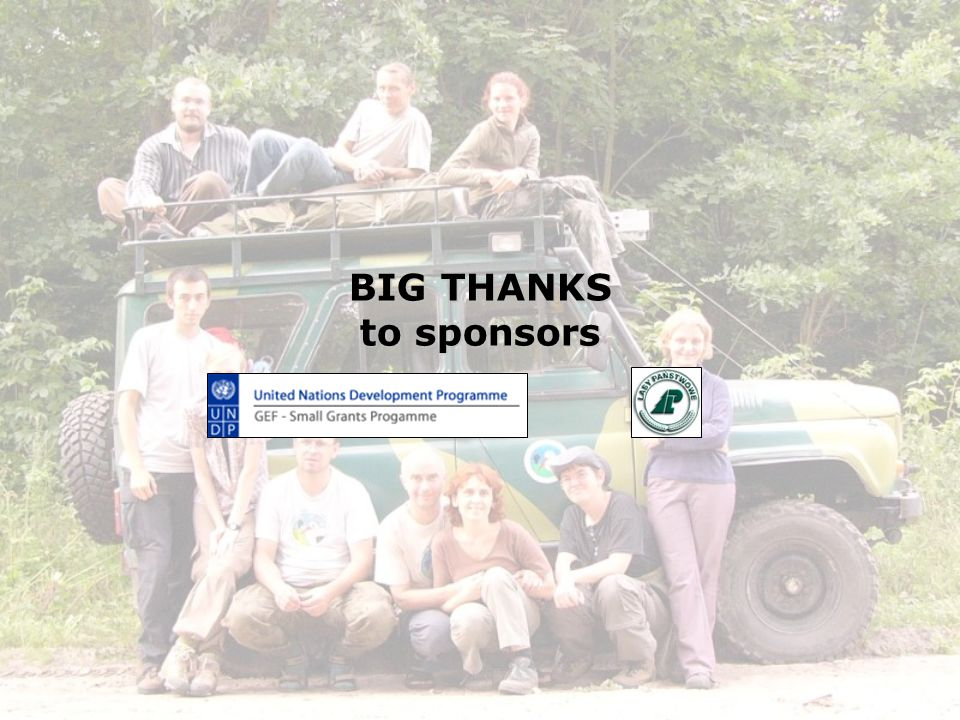BIG THANKS to sponsors