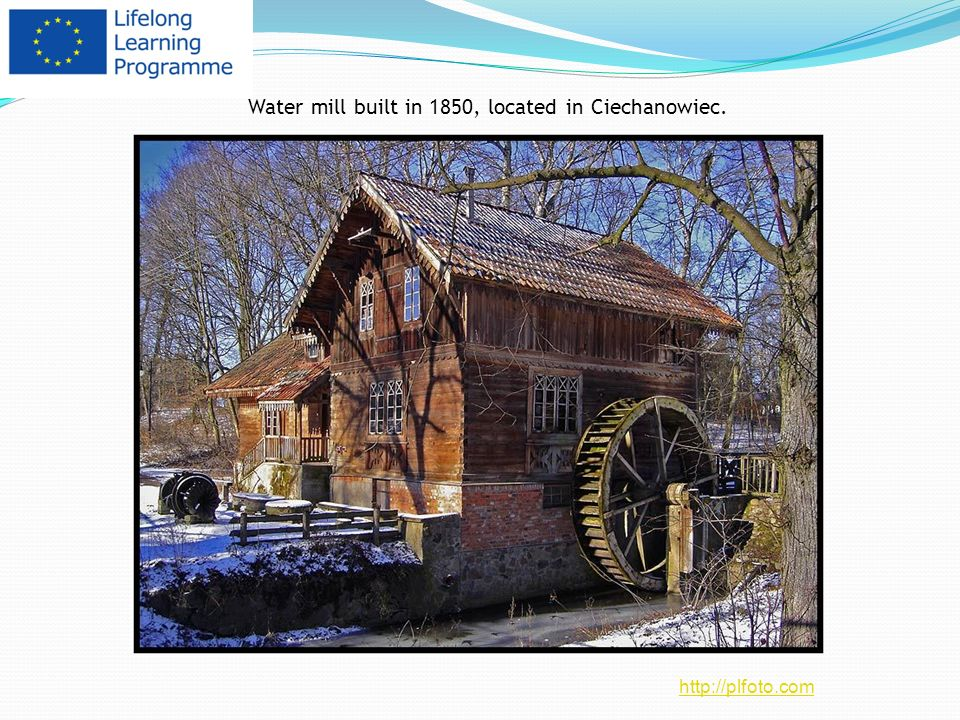 Water mill built in 1850, located in Ciechanowiec. http://plfoto.com