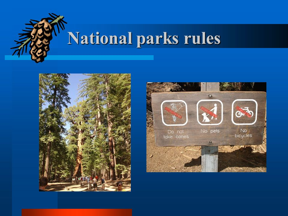 National parks rules