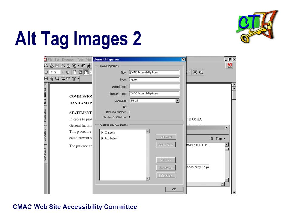 CMAC Web Site Accessibility Committee Alt Tag Images 2