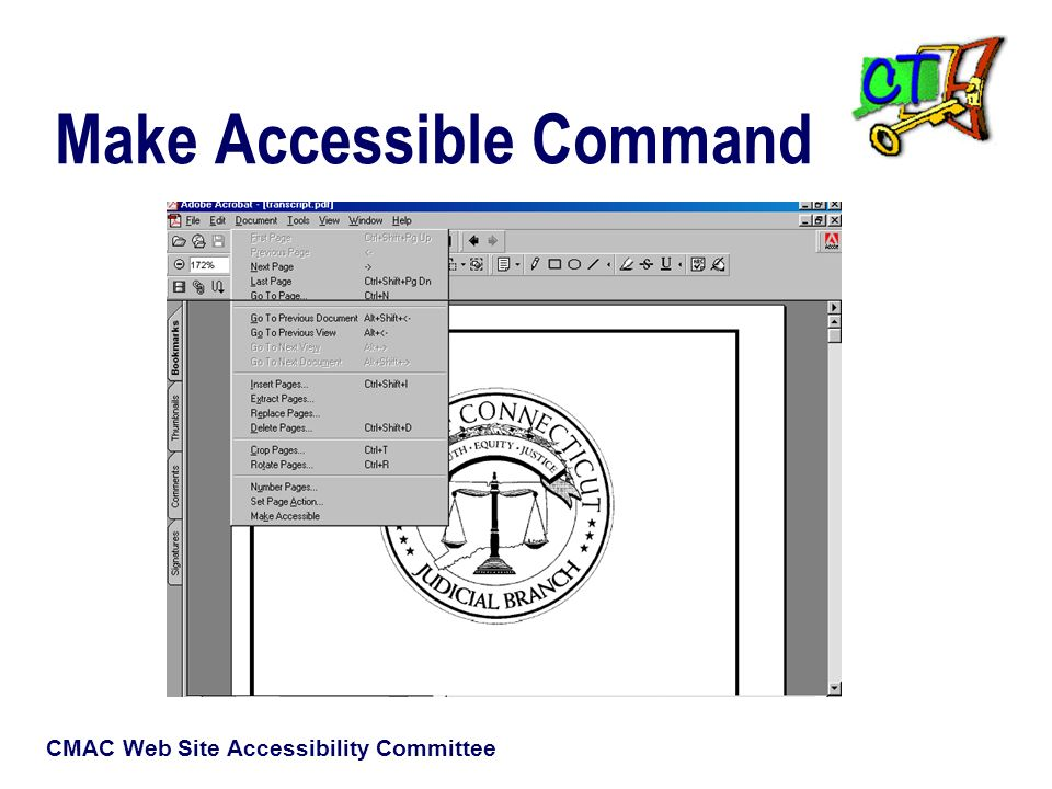 CMAC Web Site Accessibility Committee Make Accessible Command