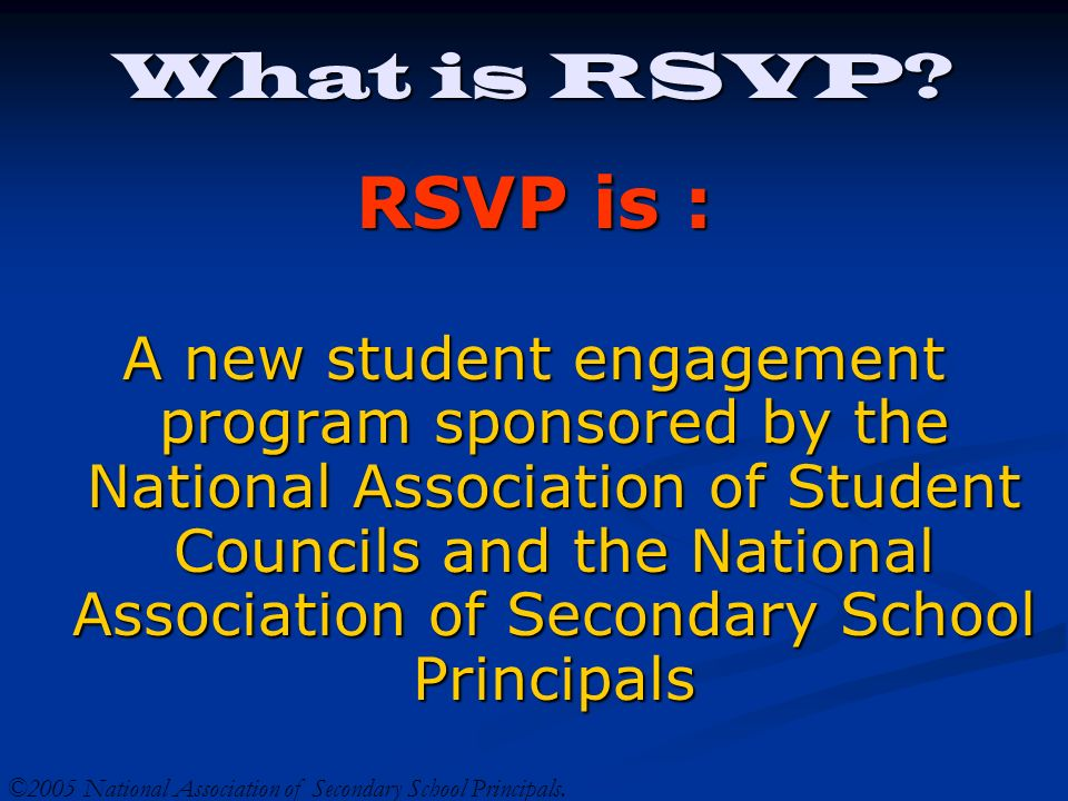 What is RSVP.