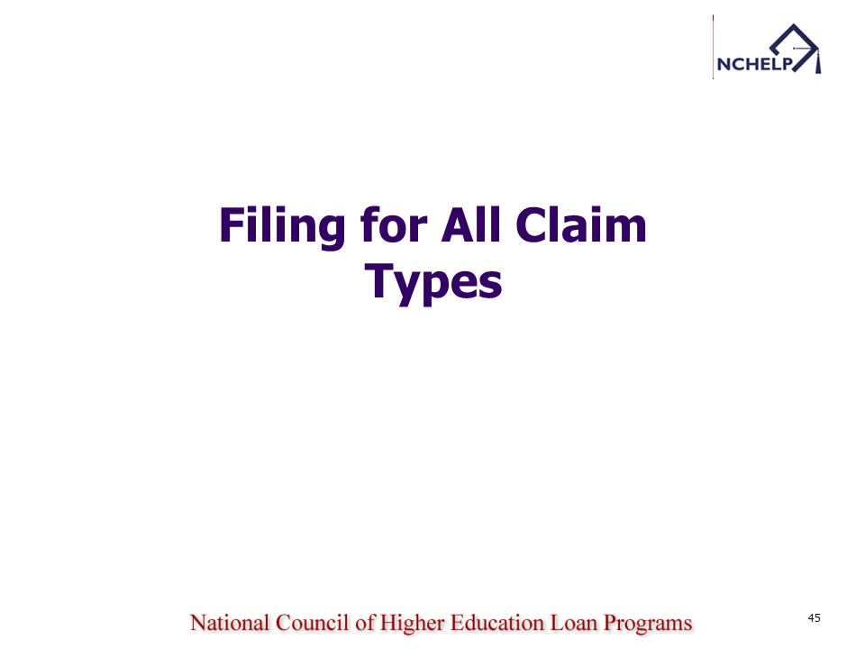 45 Filing for All Claim Types