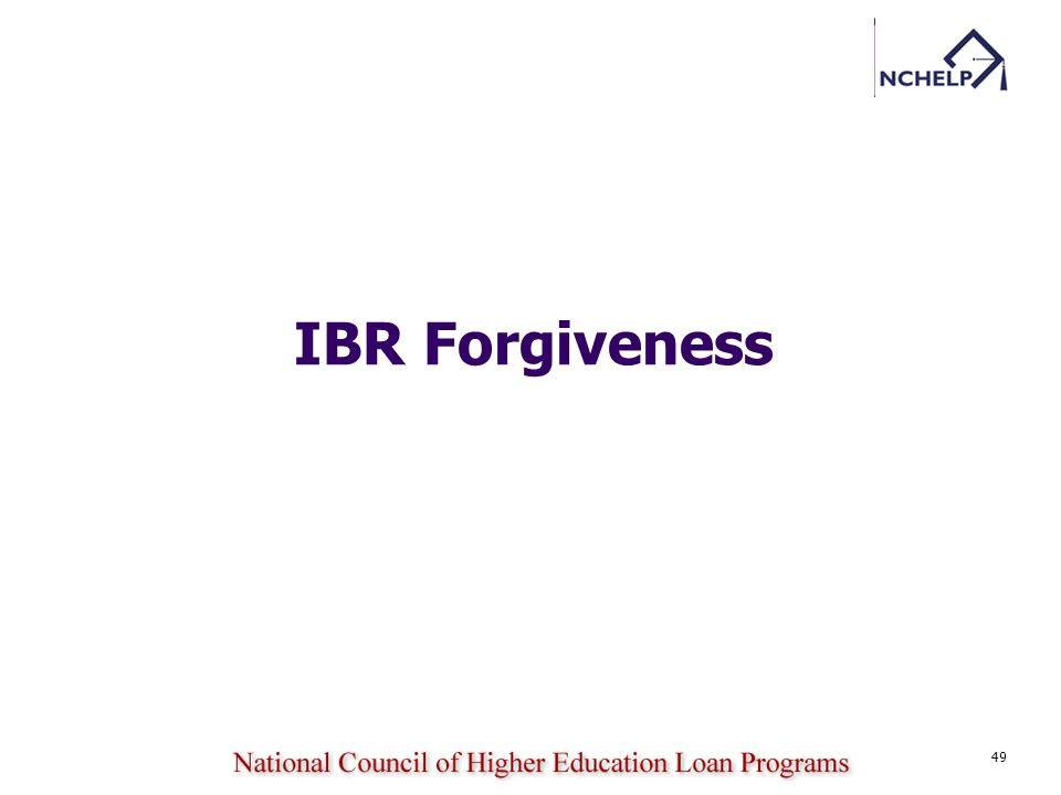 49 IBR Forgiveness