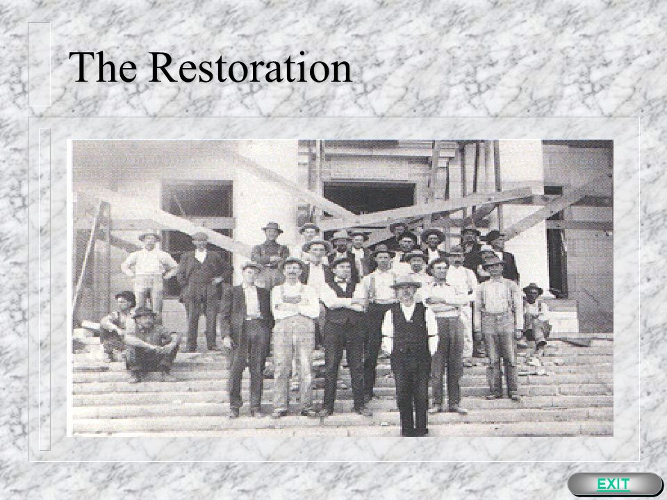 The Restoration n Plans to restore the courthouse are extensive.