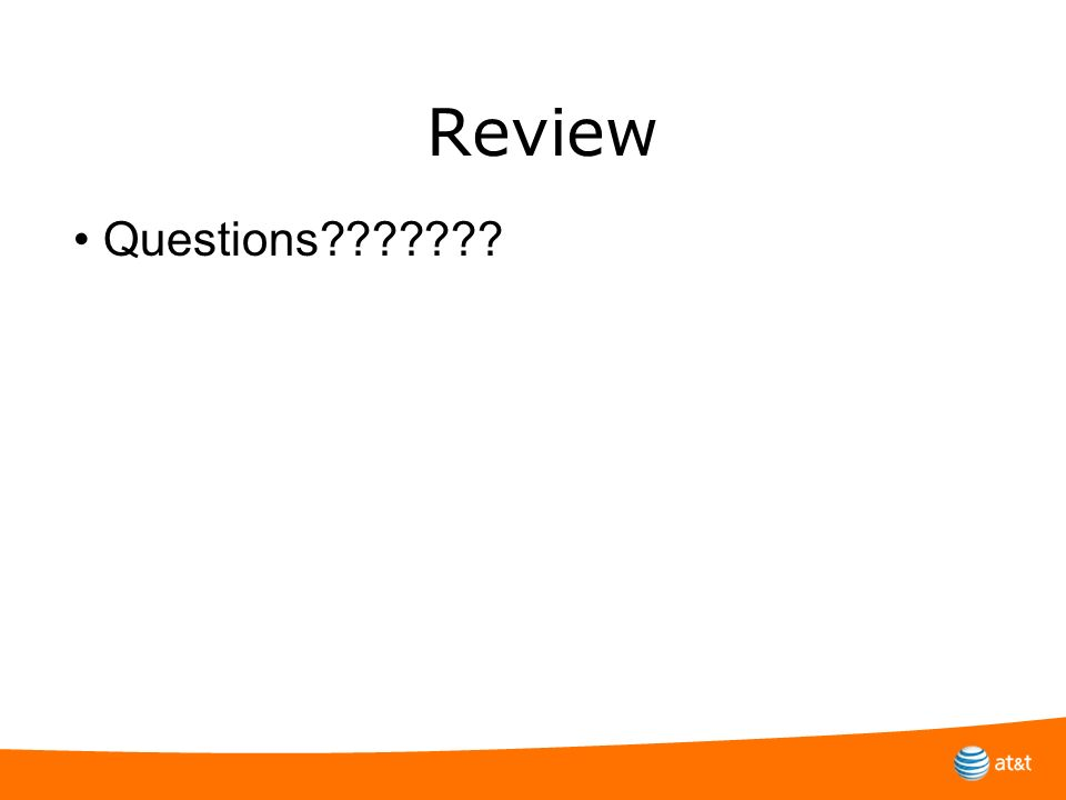 Review Questions???????