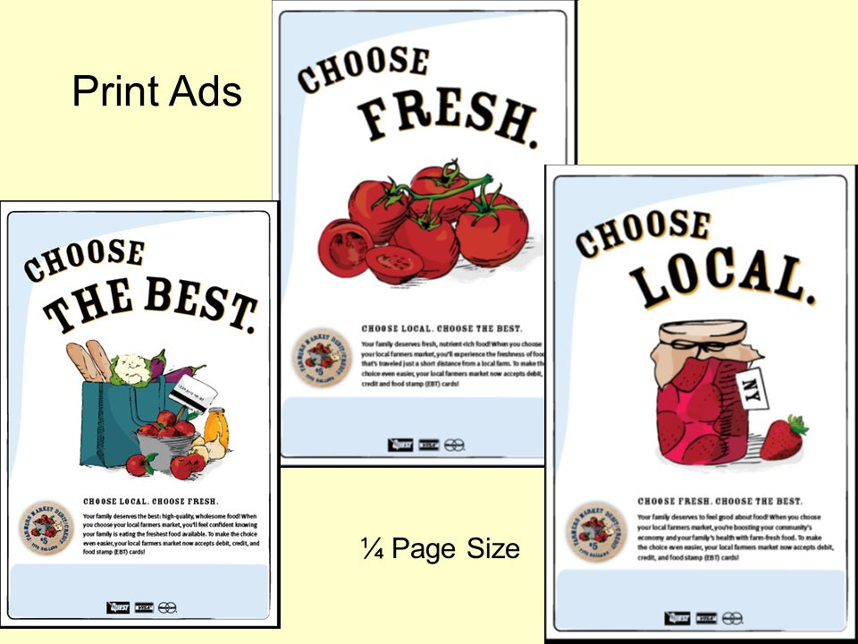 Print Ads ¼ Page Size