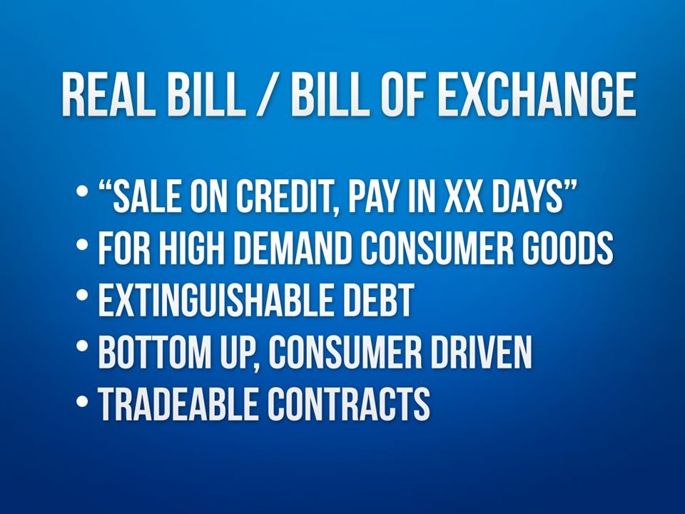 Sale on credit with order to pay in xx days For consumer goods in high demand Extinguishable debt Bottom up, consumer driven Contracts can be tradeabl