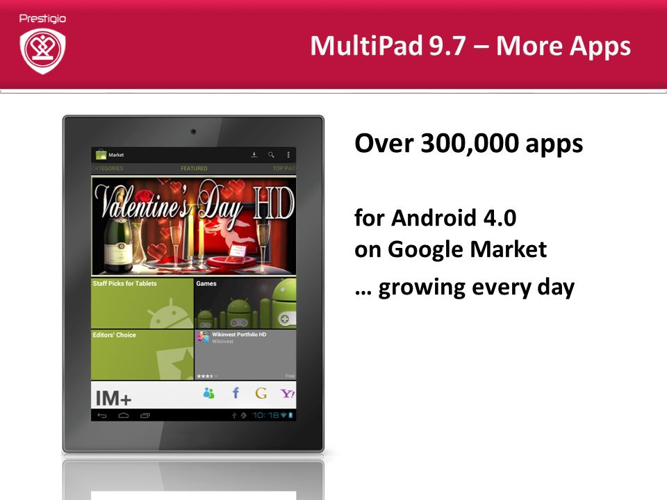 Over 300,000 apps for Android 4.0 on Google Market … growing every day