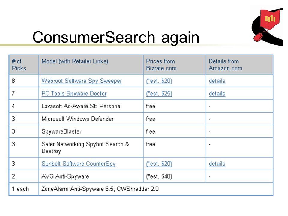 ConsumerSearch again