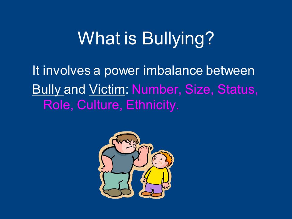 Bullying can be: Relational Aggression Telling people not to be friends with a victim INDIRECT Behind someones back Exclusion Leaving out Shunning Gossip Lowering peoples opinion About the victim