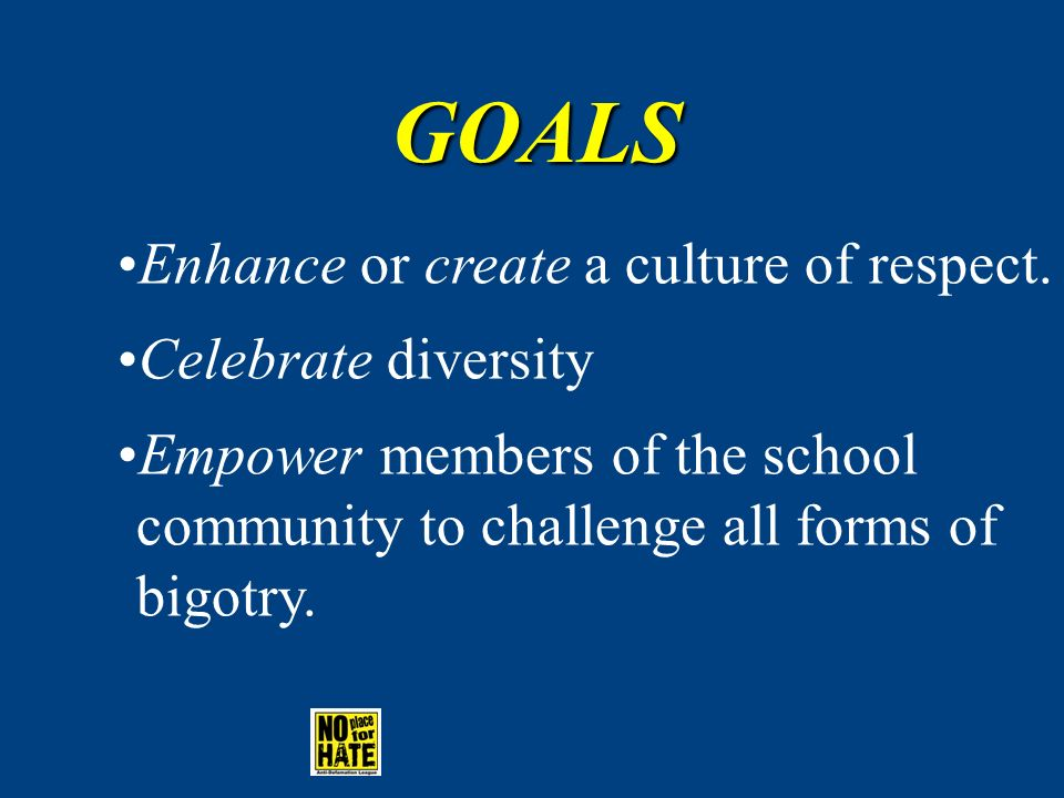 Other ideas for No Place for Hate Projects Mix it Up day No Name Calling Day Pen Pals Programs for Parents Diversity Display