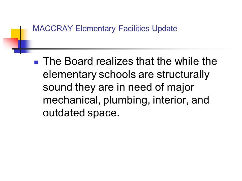 MACCRAY Elementary Facilities Update Option 1.