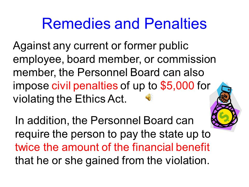 Against a former employee, the Personnel Board can issue: Remedies and Penalties a public statement of its findings, conclusions, and recommendation;