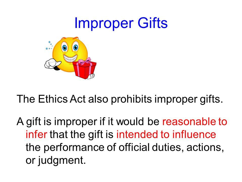 Improper Gifts