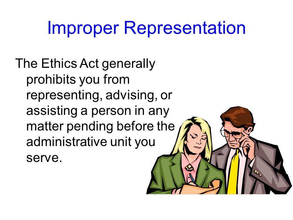 Improper Representation
