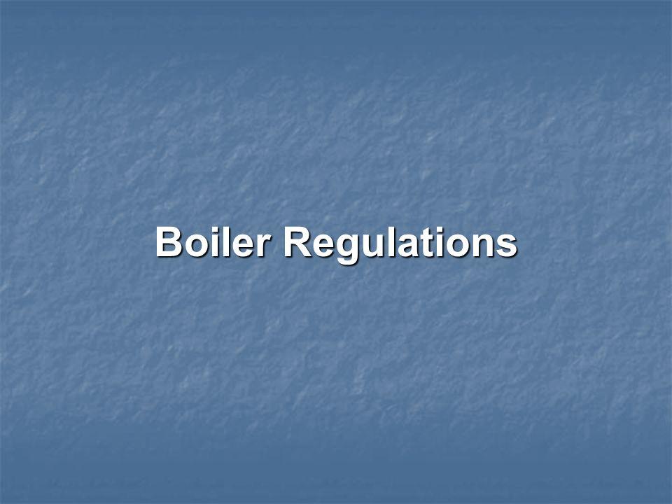 Boiler Regulations
