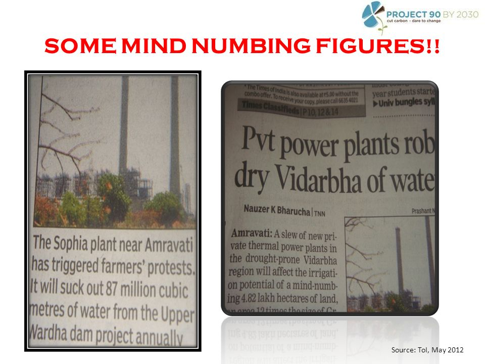 SOME MIND NUMBING FIGURES!! Source: ToI, May 2012