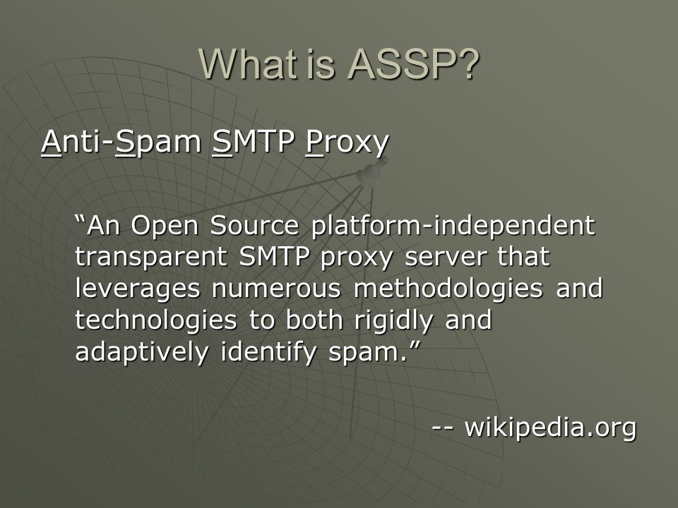 Anti-Spam SMTP Proxy - Wikipedia, the free encyclopedia