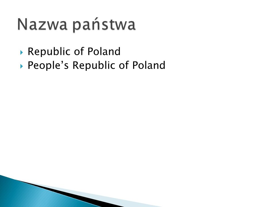 Republic of Poland Peoples Republic of Poland