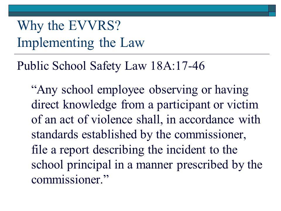 Why the EVVRS.