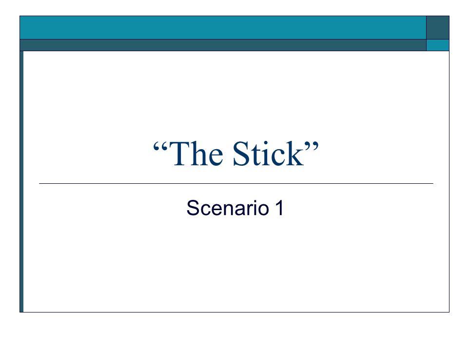 The Stick Scenario 1