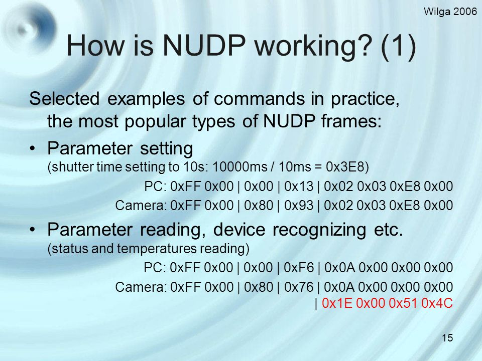 Wilga 2006 15 How is NUDP working.