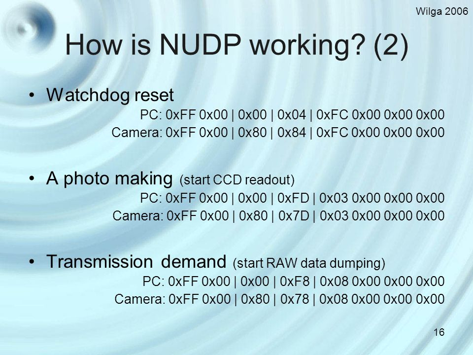 Wilga 2006 16 How is NUDP working.