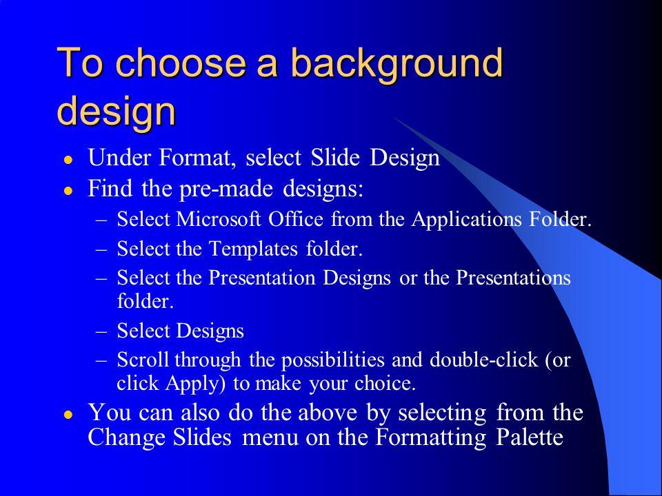 PowerPoint: Getting fancier