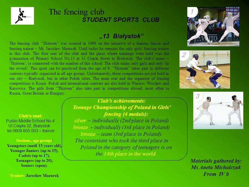 Białystok Sports Club Hetman Clubs seat: 15-085 Białystok, ul.J.K.Branickiego 3, tel.085-741-15-38, 677-23-75 Białystok Sports Club Hetman was created in spring 1948.